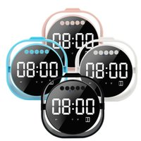ingrosso sveglie mp3-Orologio Bluetooth Altoparlante portatile Specchio Display a LED Altoparlanti wireless Sveglia Altoparlanti Super Bass Stereo MP3 Lettore audio HIfii