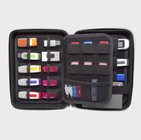 caja de tarjeta flash usb al por mayor-Bolsa de almacenamiento en disco duro U - Bolsa organizadora de cable USB Estuche para mini productos digitales, HDD, unidad flash USB, auricular, tarjeta bancaria