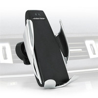 iphone magico al por mayor-Cargador inalámbrico para coche Magic Cargador inalámbrico 10W Soporte de carga rápida para iPhone XS XR Samsung S9 Note8 360 grados de rotación titular