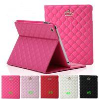 rosa tabletten großhandel-LuxuxRhinestone Crown PU-Leder-Tablet Folding Fall für iPad 2 3 4 5 6 IPAD mini 4 mit Stand stoßfest Vegetationsruhe Abdeckung