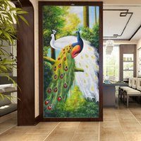 Wholesale wall wallpapers hd for sale - Group buy WDBH d wallpaper custom photo HD View Peacock Art porch background home decor living room d wall muals wall paper for walls d