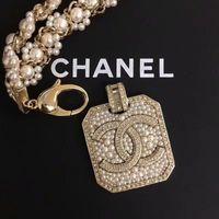 österreichische kristallbroschen großhandel-Damen Luxus High-End Perlenkette 18K Gold eingelegten Diamant Halskette importiert österreichischen Kristall Halskette Sommer Mode Brosche