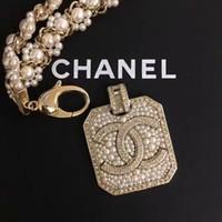 broches de cristal austríaco venda por atacado-Luxo das mulheres high-end colar de pérolas ouro 18 K embutidos colar de diamantes importados de cristal austríaco colar de moda de verão broche