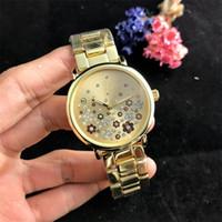 Wholesale gold steel women flower watch resale online - Fashion Broken shivering flower dial style Women s Quartz Watch Luxury Women Ladies Designer Quartz Watches
