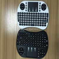 dhl jogos jogar grátis venda por atacado-Rii Air Mouse Sem Fio Teclado Portátil Mini I8 2.4 GHz Touchpad Controle Remoto Para MX CS918 MXIII M8 CAIXA de TV Game Play Tablet DHL Livre