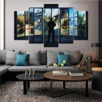 küresel sanat toptan satış-Çerçeveli 5 adet Hd Counter Strike Küresel Ofansif Oyunları Duvar Art HD Baskı Tuval Boyama Moda Asılı Resimler Ev dekor