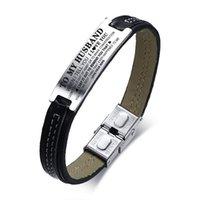 liebe id armband großhandel-Vnox ID Armbänder für Männer ZU MEINEM MANN DU BIST DAS BESTE, DAS ICH MIR PASSIERT Liebe Andenken Geschenk für Ihn