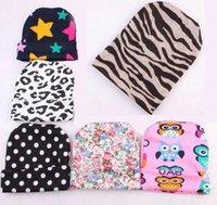bebek yorgun toptan satış-Bebek Lastik Kapağı Bebek Sıcak Lastik Kapağı Baskı Dokuz Renk Kap Şapka Pamuklu Erkek Bebek Kız 4