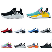 Wholesale human race shoes white resale online - HOT SALE Human Race casual Shoes Men Women Pharrell Williams Yellow noble ink core Black Red white sneakers Eur