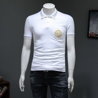 güzel boncuk nakışı toptan satış-2019 Yaz Yeni Desen Boncuk Land Pamuk Yaka Kısa Kollu T T-shirt Gençlik Güzel Nakış Dibe Blouses309 #