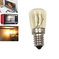 yüksek sıcaklık led aydınlatma toptan satış-Fırın Ampul E14 25 W Yüksek Sıcaklık 300 Derece Sarı Tost Tungsten Filament Ampul ile Yüksek Sıcaklık Dayanımı Ampul