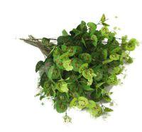 ingrosso lascia le piante-50pcs Rame di seta di eucalipto pianta artificiale lascia verde pianta ramo lascia 50 cm giardino di casa partito decorativo