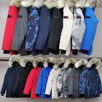 Wholesale multi color hat resale online - Wolf fur Canada Brand Winter Men Women Expediti0n Down Parkas Hoodie Jacket Coat Parka Thicken Hooded Jackets Puffer C G North FreeHat XL