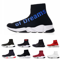 calcetines de hombre de marca al por mayor-Balenciaga shoes  2019 ACE Luxury Brand Sock Shoes Speed Designer Trainer Running Race Runners Black White Red Men Women Fashion Casual Sports Sneakers 36-45