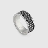 silicone de platine de qualité achat en gros de-Stéréo double et bicolore stéréo en argent sterling 925 de haute qualité avec anneau pour garçons et filles