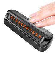 telefonnummer worte großhandel-Tancredy Auto Styling Temporäre Parkkarte Gefälschte Leder Textur Telefonnummer Karte Platte Telefonnummer Karte Auto Aufkleber (Einzelhandel)