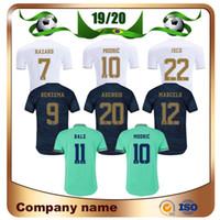ev oyuncusu toptan satış-2019 Oyuncu Sürümü Real Madrid Home Futbol Forması 19/20 Deplasman TEHLİKE KROOS MODRIK RAMOS Gömlek MARCELO ASENSIO ISCO 3rd Futbol forması