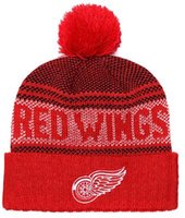 2019 New Fashion Europe   the United States red New Flat Wool Wings beanie  Sports knit hat Football Knitted Wool Hat Velvet Curled Cap 00 306de309b4d1