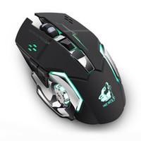 pc drahtloser spielempfänger großhandel-HobbyLane wiederaufladbare Wireless Silent LED Gaming Mouse mit Hintergrundbeleuchtung Optische USB-Maus für PC Wireless Gaming Receiver d20
