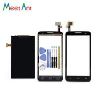 alcatel un toque x al por mayor-Nueva alta calidad 4.5 '' para Alcatel One Touch X Pop 5035 OT5035 5035X Pantalla Lcd con la pantalla táctil digitalizador Sensor