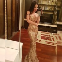 Wholesale green lady evening dress for sale - Group buy sexy sequins One word collar floor mopping banquet party high quality Evening dress fishtail dress for ladies Multicolor optional