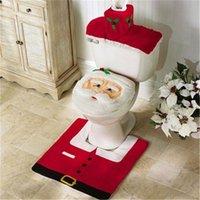 ingrosso coprisedili di natale-Happy Santa Coprivaso Coprivaso Coprivaso Coprivaso Coprisedile Set da bagno Decorazioni natalizie