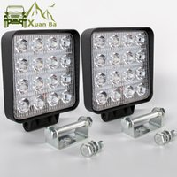 Wholesale spot lights for cars resale online - Xuanba Inch Yellow Led Work Light Bar x4 Offroad For Car V V Motorcycle Trucks Uaz SUV ATV WD Flood Beam Led Driving Fog Lamp