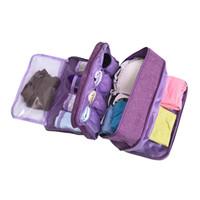 sacos de armazenamento de roupa de pano venda por atacado-Sutiã underware gaveta organizadores divisores de armazenamento de viagem caixa saco peúgas briefs pano caso roupas roupeiro acessórios suprimentos