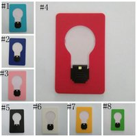 Wholesale led purse resale online - LED Card Light Pocket Lamp LED Flashlight Lighters Portable Mini Light Put In Purse Wallet Emergency Portable Outdoor Tool LJJZ333