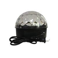 dönen kristal top toptan satış-LED Sahne Aydınlatma Dans Zemin Kristal Magic Ball Disko LED Işık Dönen Renkli Yanıp Sönen Işıklar Yanıp KTV Lazer Işık Pub