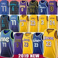Wholesale basketball jerseys lebron for sale - Group buy 23 LeBron James Basketball Jersey Anthony NCAA Davis Luka Doncic Kristaps Porzingis Kobe Kyle Bryant Kuzma Crenshaw college