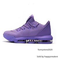 Wholesale gold designer sneakers resale online - Mens lebron low basketball shoes Purple Gold Green BHM Oreo Christmas youth kids lebrons sneakers tennis with box size