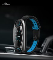 Wholesale chip tracker for sale - Group buy LT04 Smartband Watch In Fitness Bracelet Wireless Bluetooth Earphone Bluetooth Chip IP67 Waterproof Sport Smart Watch