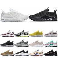 kadın golf ayakkabıları toptan satış-nike air max 97 Sıcak satış gül SW 97 erkek kadın koşu ayakkabıları Metalik Altın SE Şerit Mermi Üçlü Siyah beyaz eğitmenler spor mens ayakkabı sneakers ABD 5.5-11