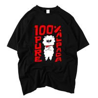 imágenes de camisetas de cuello v al por mayor-Bangtan Boys Jin Impresión de imagen de dibujos animados 100% Pure Alpaca T Shirt Para Kpop Fans Unisex Moda Verano Camiseta de manga corta Y19051104