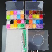 eva 3d puzzle großhandel-2,6 mm Eva Diy Mini Perler enthalten Pegboard Tangram Puzzle mit Werkzeugen, Hama Perlen Puzzle, Kinderspielzeug, Brinquedos