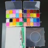 Wholesale landscape puzzle for sale - Group buy 2 mm Eva Diy Mini Perler Contain Pegboard Tangram Jigsaw With Tools Hama Beads Puzzle Kids Toys Brinquedos