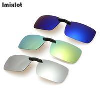 Wholesale clip night vision goggle for sale - Group buy Imixlot UV400 Polarized Clip on Sunglasses Men Unisex Eyeglasses Light Super Lens Sun Glasses Night Vision Driving Clip on Glass