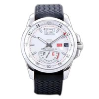Wholesale luxury watches miglia for sale - Best Edition Miglia GT XL Steel Case Real Power Reserve White Dial ETA A2824 Automatic Mens Watch Black Rubber Strap New FK