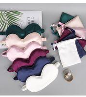 imtitated silk fabric Double-Side Shading EyeShade Sleeping Eye Mask Cover Eyepatch Blindfolds,high quality stock Eyeshade,Sleep Mask Set