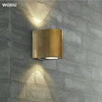 cristais naturais uk venda por atacado-WOXIU luzes de parede nórdicos modernas luzes interiores interior ao ar livre villa interiores decoração hospitalidade design fonte de luz dupla à prova d 'água