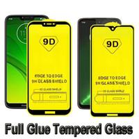 glass screen protector redmi großhandel-Für moto g7 power redmi go iphone xr xs max 6 s 7 plus 8 vollkleber gehärtetes glas full cover 9d neue displayschutzfolie