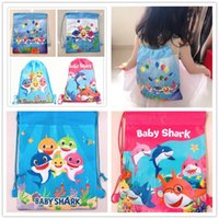 Wholesale movie star baby for sale - Group buy Cartoon Designer Drawstring Bags Kids Baby Shark Bundle Pocket Surprise Girls Unicorn Avenger Theme Backpacks Non woven Fabric Bags A61302