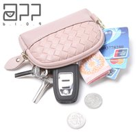 Wholesale clear coin purses for sale - Group buy APP BLOG Brand Knit Women Leather Small Mini Wallet Holder Zipper Coin Purse Travel Mini Bag Clutch Handbag Carteira