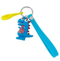 Wholesale car phone holder cute for sale – best PVC Doll D Anime The dinosaur Pendant Key Chain Kids Key Holder Gift Cute For Lovers Creative Car Bag Phone Ring