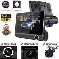 ingrosso telecamere auto a scoppio-Registratore automatico di retrovisione del registratore della macchina fotografica del videoregistratore della macchina fotografica dell'automobile di 4 '' originale con due macchine fotografiche Dash Cam DVRS doppio obiettivo