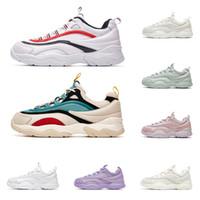 fusion sneakers großhandel-fila 2020 modedesigner marke schuhe für männer frauen fusion dreifach weiß lila grün rot herren trainer casual turnschuhe plattform größe 36-44