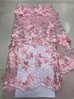 Wholesale embroidered nets for wedding dresses for sale - Group buy Nigerian Lace Fabrics Embroidered Lace Trim African French Tulle Net Lace Fabric For Wedding Dress CD516