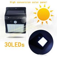 Wholesale black wall panel for sale - Group buy Waterproof LEDs Solar Light Solar Panels Power PIR Motion Sensor LED Garden Light Outdoor Pathway Sense Solar Lamp Wall Light