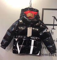 Wholesale 5t nylon online – Branded Daring Children Bright Nylon Quilted Laqué Down Jacket Designer Kids Boy Girl Pocket Snap off Detachable Hood Down Coat